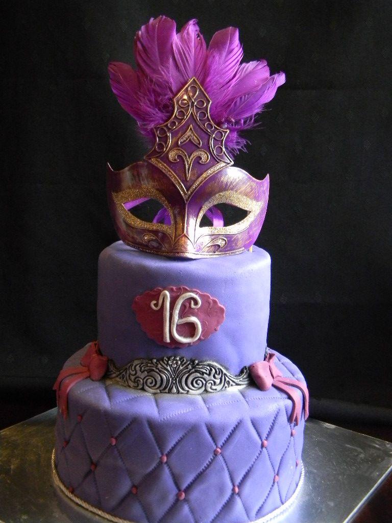 Nabeelas Bakeshop Masquerade Ball Masquerade Birthday Cake Designs