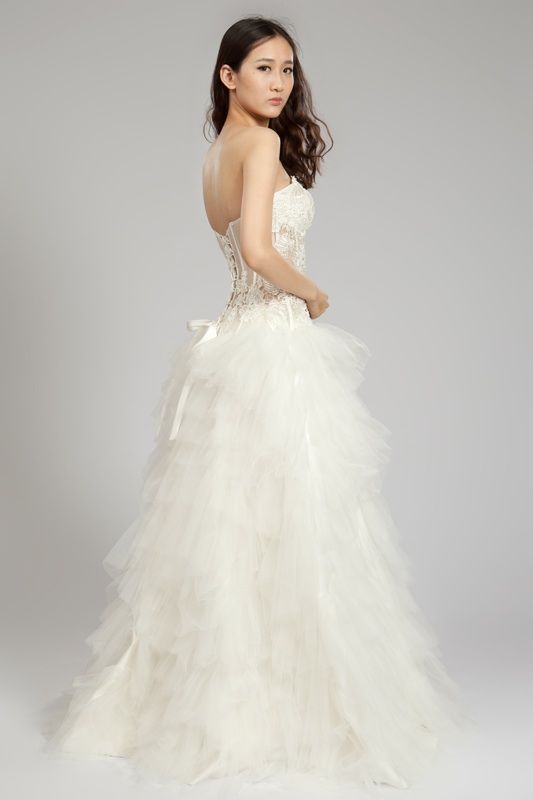 Tiered Tulle Wedding Dress