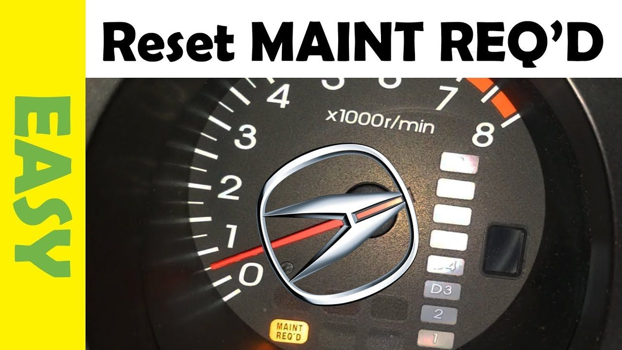 Resetting your Oil Light AKA Maintenance Required light on