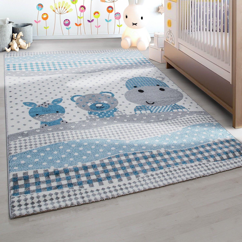 Kinderteppich Kinderzimmer Teppich Lustige Tiere Muster