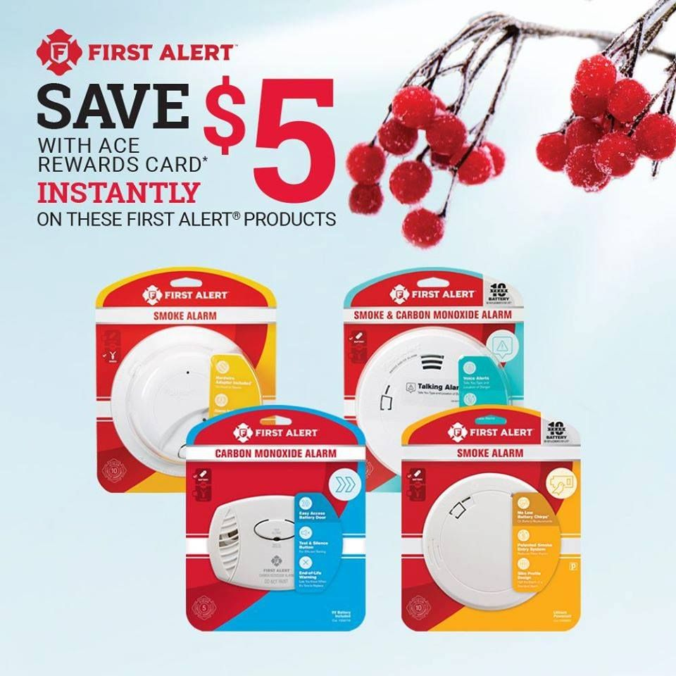 Protect your home with First Alert. Ace Reward Members