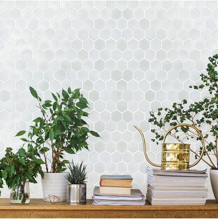 Tempaper Hexagon Tile Self Adhesive Wallpaper Reviews Wallpaper Home Decor Macy S Hexagon Tiles Removable Wallpaper Self Adhesive Wallpaper