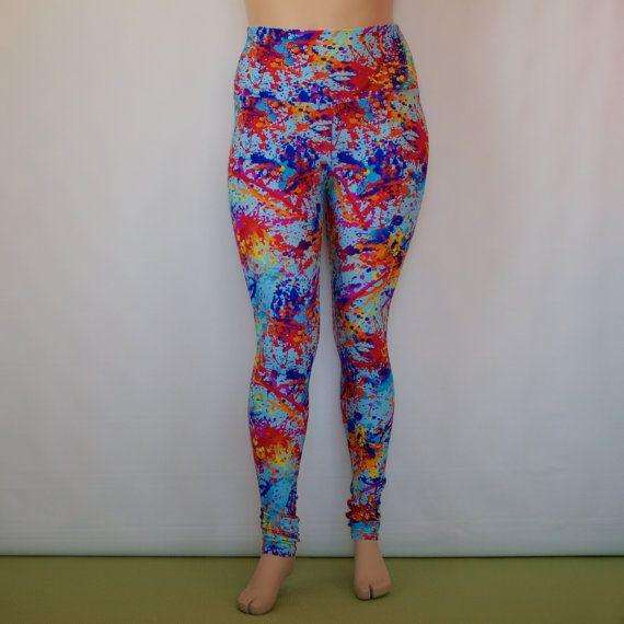 Plus Size Classic Legging Paint Splatter by Fractal9 on Etsy ...