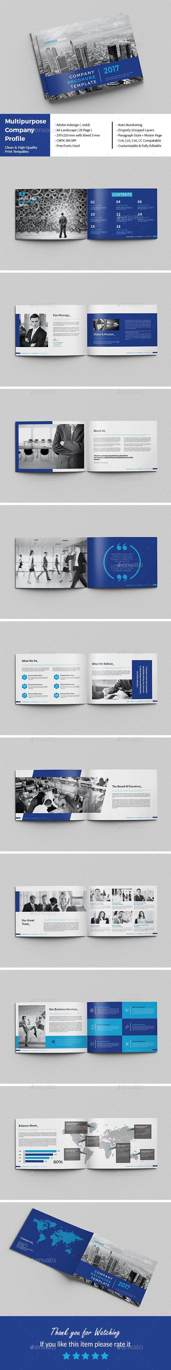 Multipurpose Company Profile | Indesign templates, Company profile ...