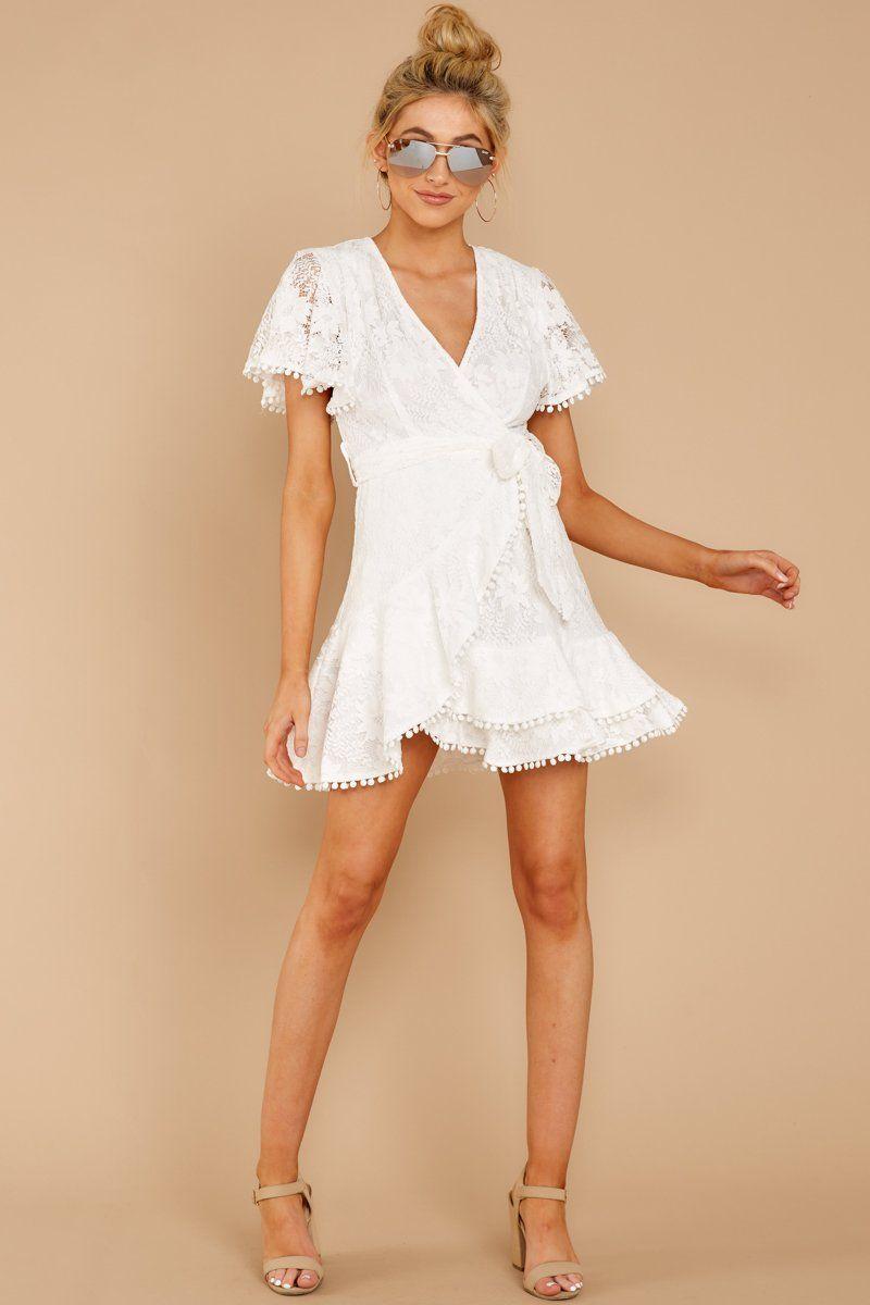 Best Wedding Dresses For Men Plus Size Semi Formal Dresses Floral Dres Lace White Dress Wrap Dress Short White Short Dress [ 1200 x 800 Pixel ]