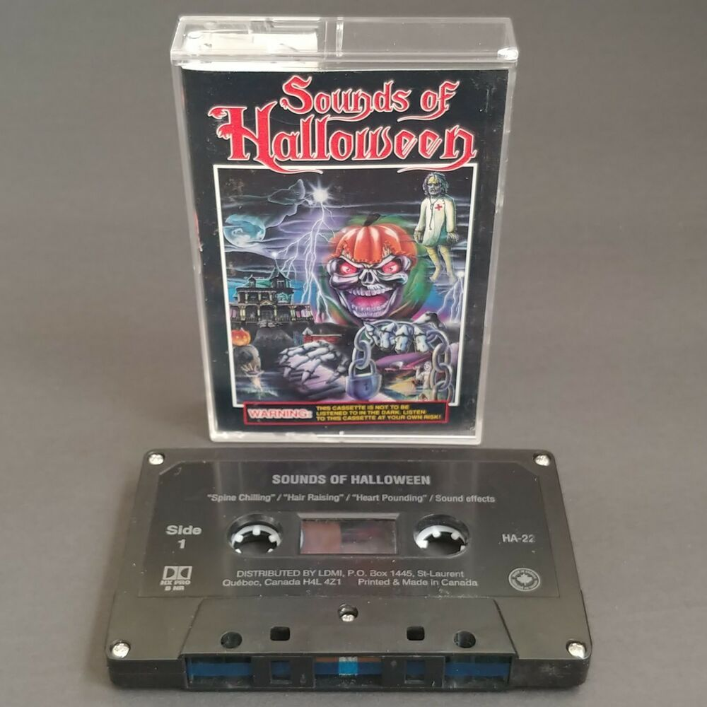 Sounds of Halloween Cassette Audio Tape Scary Sound Effects Tested