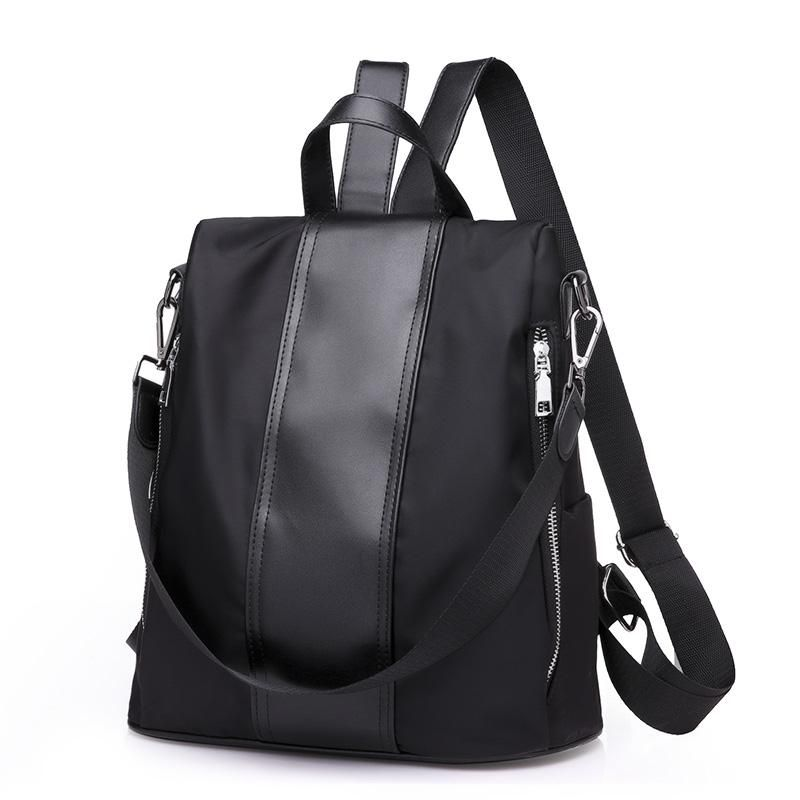 b52da1bb874 Women Teenage Black Pink Gray Shoulder Backpack High Quality Bag ...