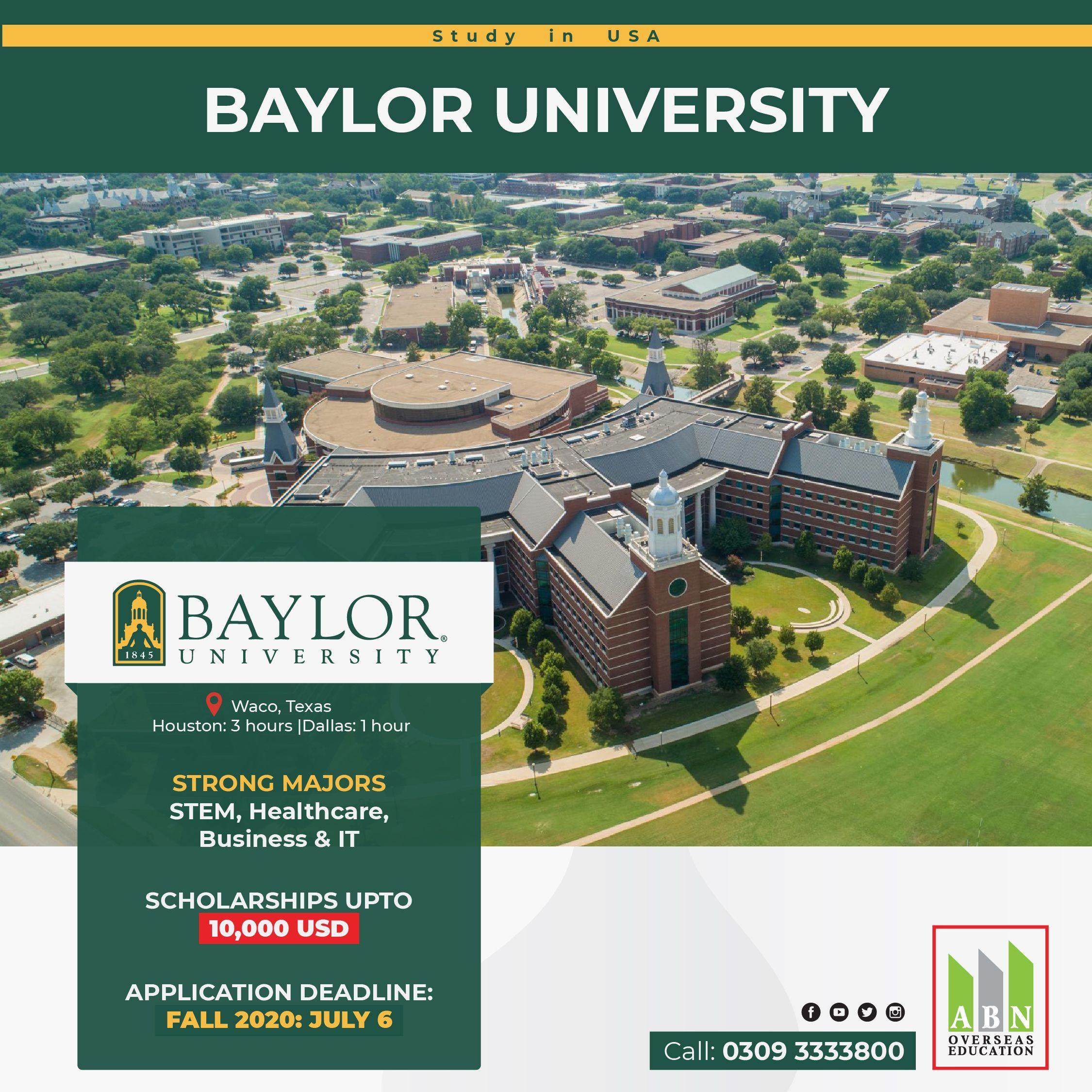 Study at Baylor University USA in 2020 | Baylor university ...