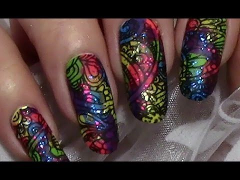 Karneval Nageldesign Bunte Faschingsnagel Colorful Carnival