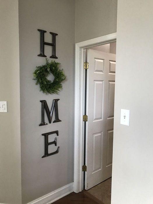 Diy Home Wreath Wall Decor Wreath Wall Decor Wood Home Decor Home Wall Decor
