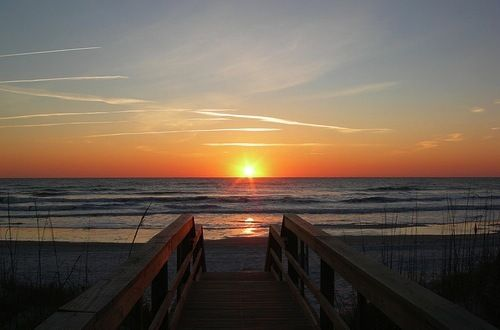 Imagine waking up to this beautiful sunrise every morning! #StAugustineBeach #Florida #CoastalLife www.memoryhopkins.com