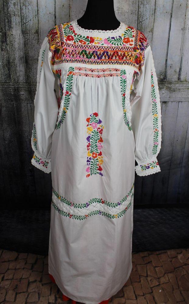 ef581d4d29e16 Hand Embroidered San Antonio Wedding Dress Oaxaca Mexico  Handmade   MexicanDress