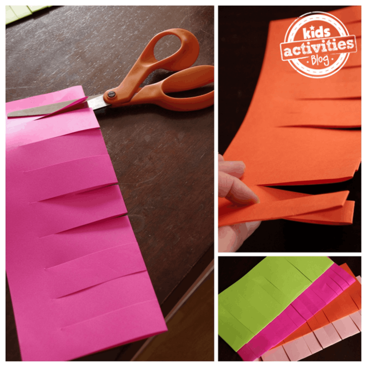 Paper Punch Out Lanterns