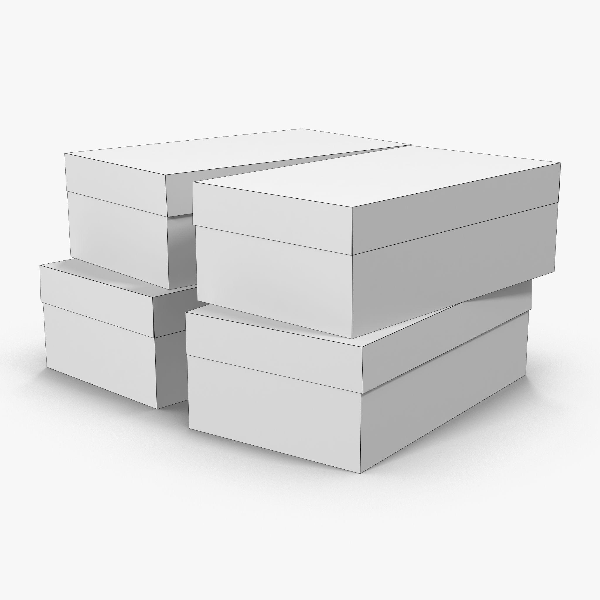 Colored Shoe Boxes Low Poly Shoe Box Colorful Shoes Business Attire For Men