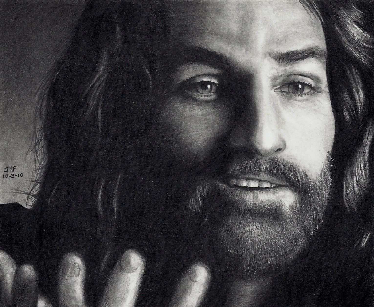 Jesus Laughing Pencil Drawings
