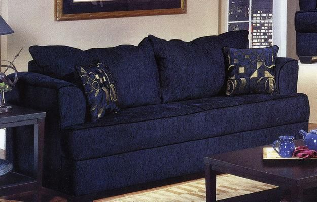 beautiful dark blue sofa | ~Color- Everything\'s Better in Blue ...