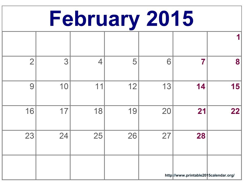 February  Calendar  February  Calendar Printable  Projects