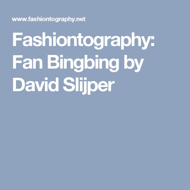 Fashiontography: Fan Bingbing by David Slijper