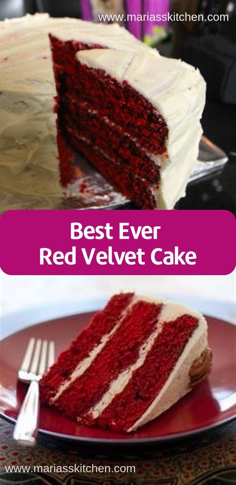 Best Ever Red Velvet Cake Recipe Cake Recipe Using Buttermilk Velvet Cake Dessert Recipes