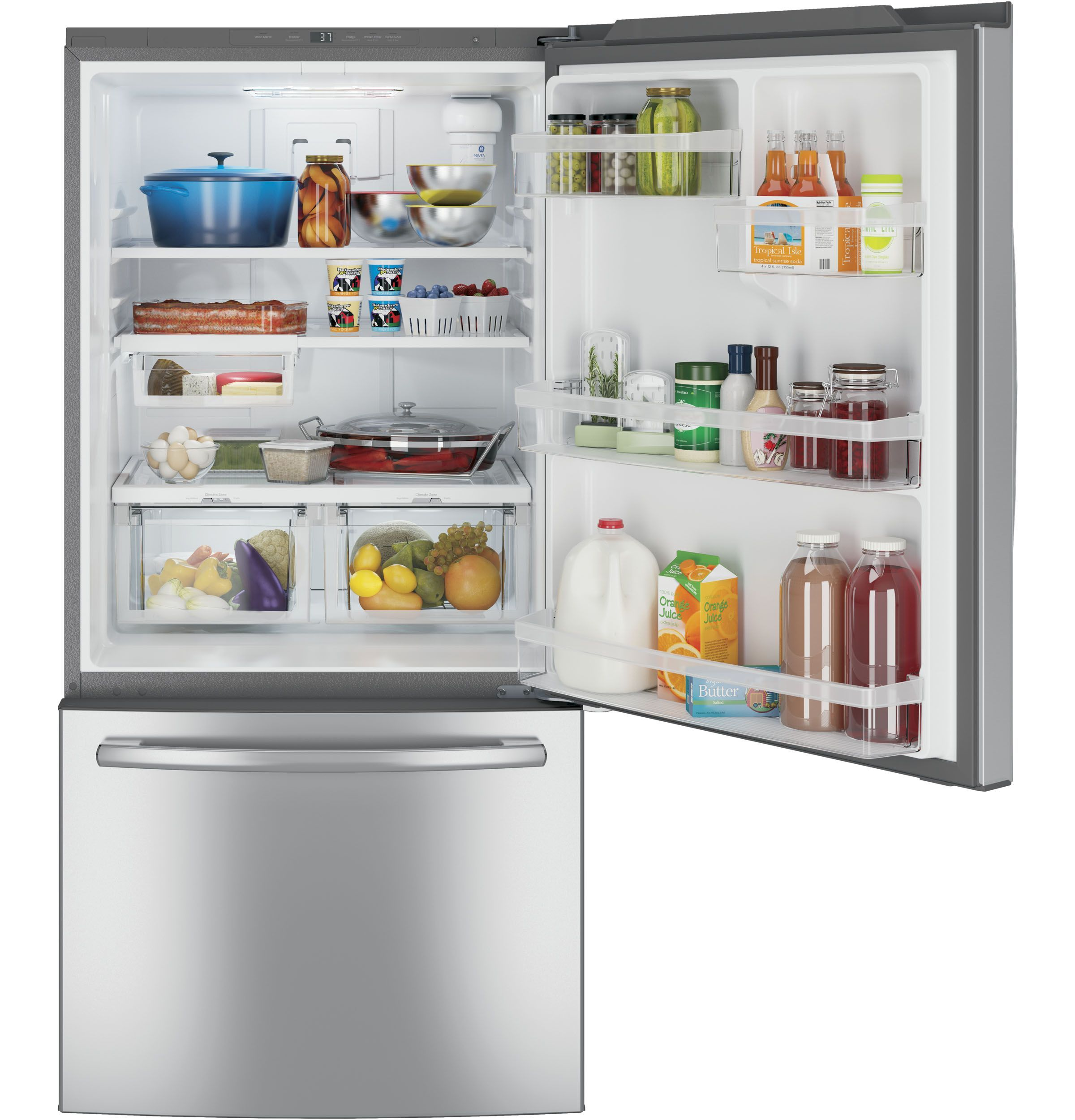 GE ENERGY STAR 24 9 Cu Ft Bottom Freezer Drawer Refrigerator