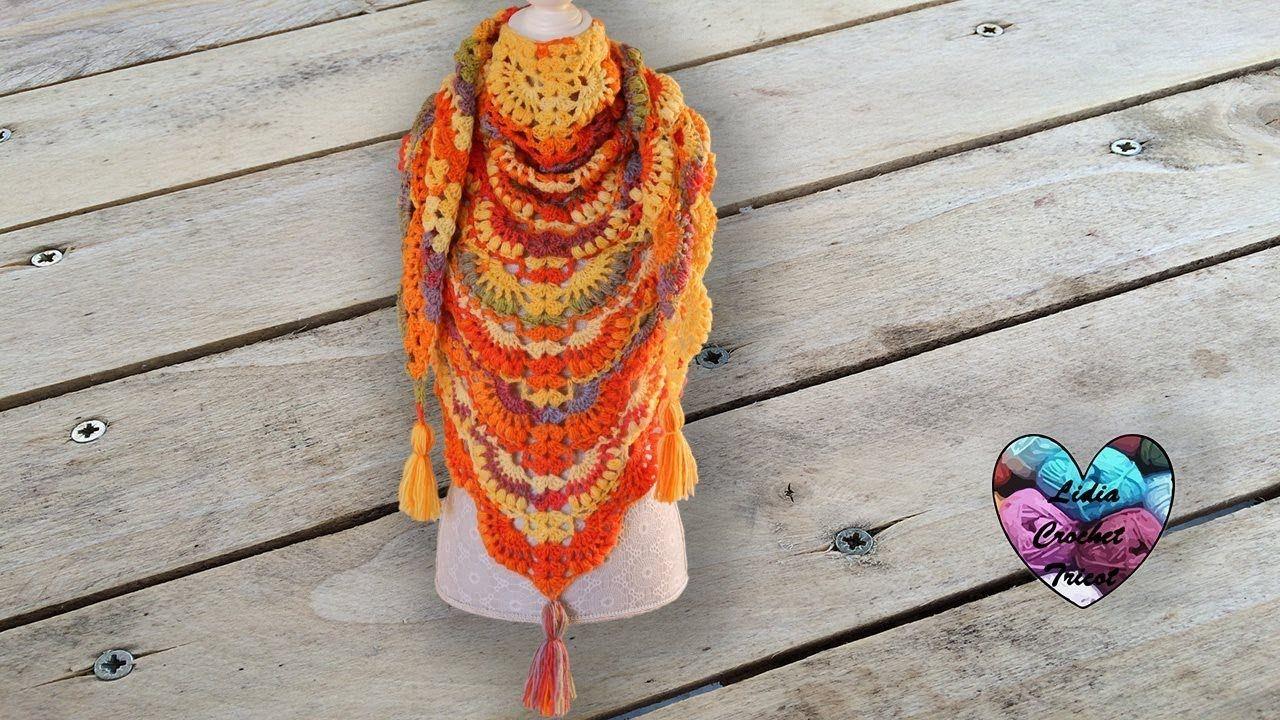 Concours! Châle automne crochet splendide   Gorros, bufandas y ...