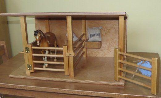HORSE BARN STABLE WOOD TOY Amish Handmade Breyer Homeschool Montessori PLAY  Game