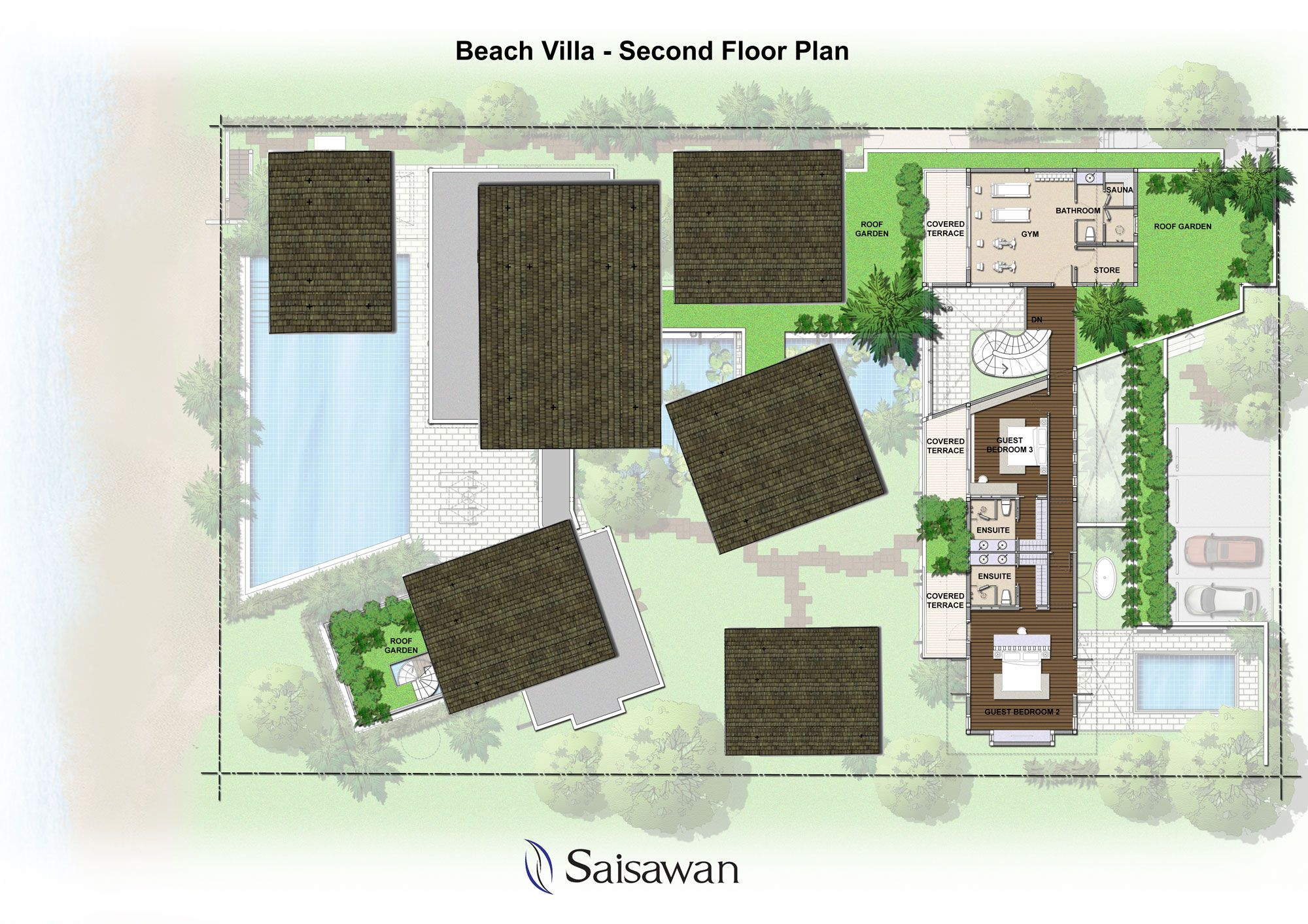 Saisawan - Beach Villas Second Floor Plan