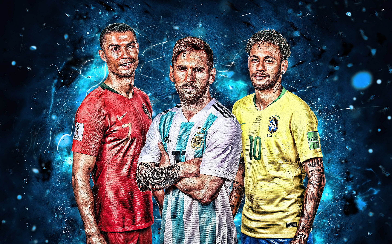 Soccer Cristiano Ronaldo Lionel Messi Neymar 2k Wallpaper