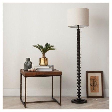 Threshold Shiloh Polyresin Fl Dark Bronze Beautiful Floor Lamps Black Floor Lamp Floor Lamp
