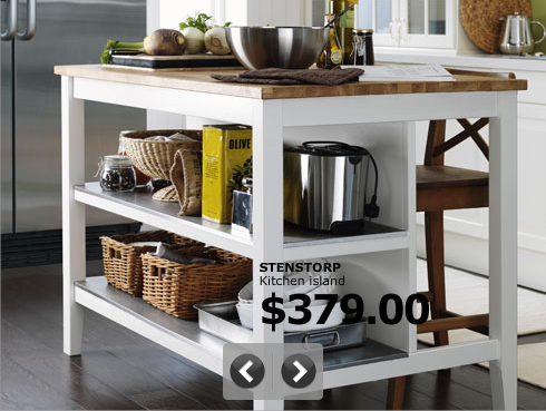 ikea kitchen island... this just might be going in my