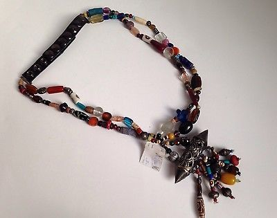 New with Tags SUZI ROHER Beaded Double Strand Belt - Size Small - Stunning