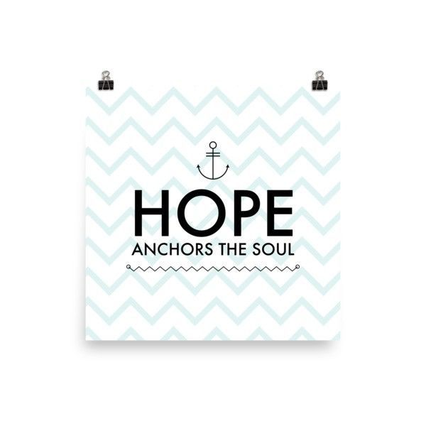 Hope Anchors The Soul Poster
