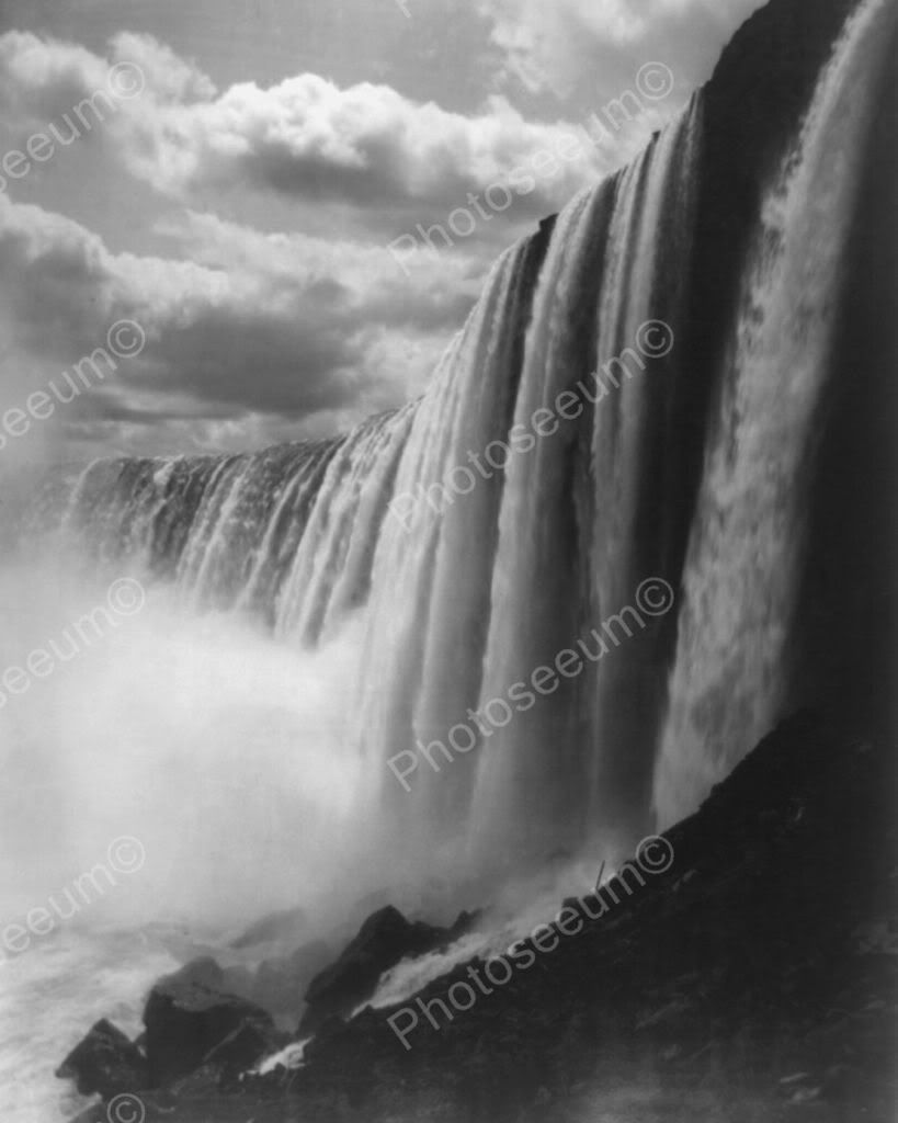 Niagara Falls Close Up View From Below! 8x10 Reprint Of Old Photo