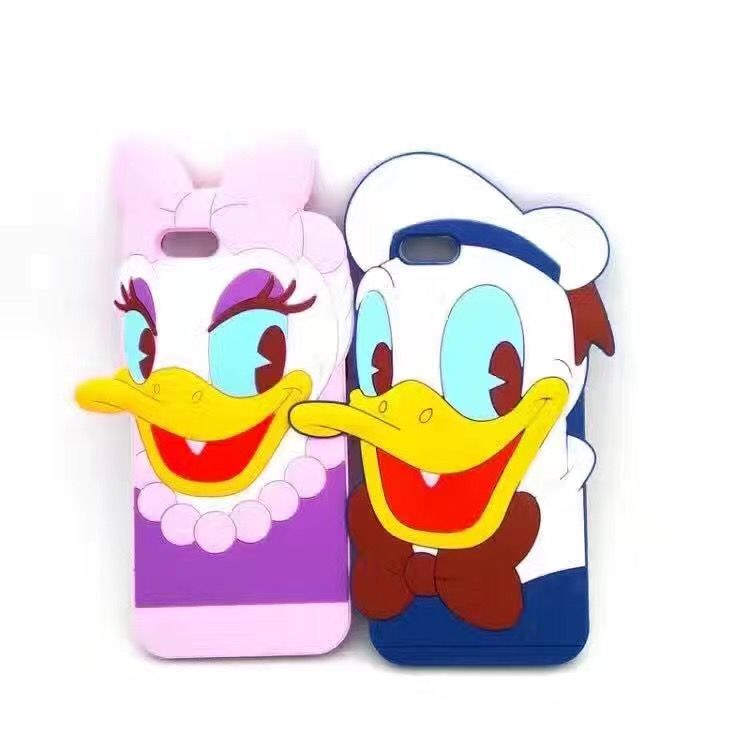 Cute Donald Duck Silicone TPU Back Cover For iPhone 7 6 6s Plus Phone Cases Fashion Protective Skin Soft Shell