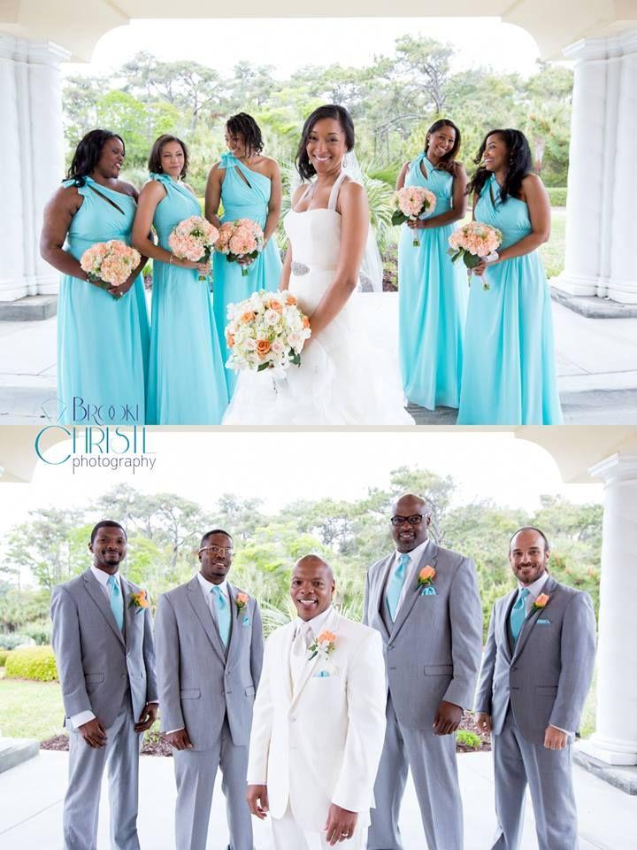 Liz Fields Bridesmaids In Tiffany Blue From Bel Fiore Bridal Atlanta Myrtle Beach Wedding Photographer Brooke Christl Onira Satterwhite Tares