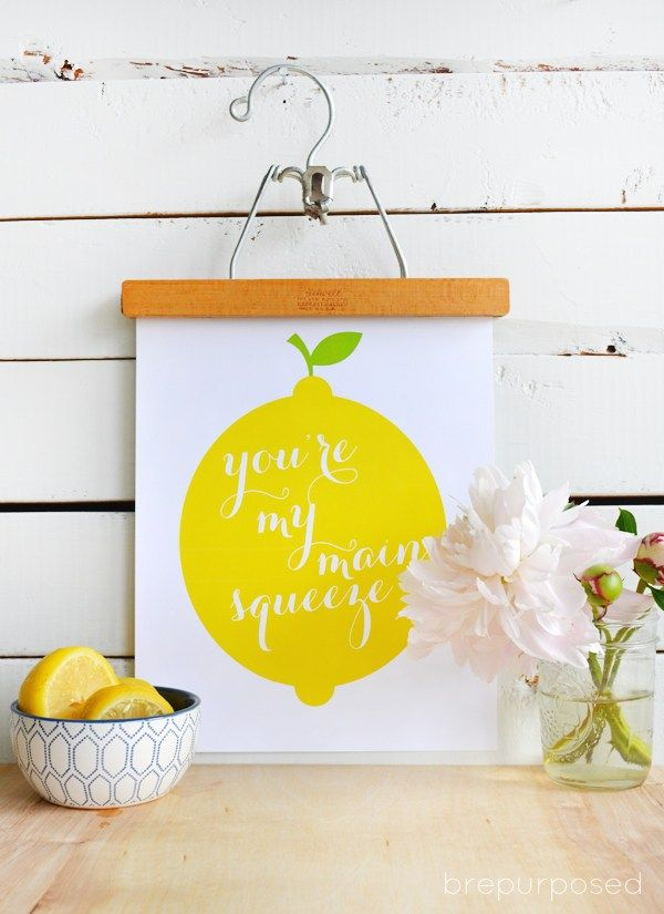 Friday\'s Fab Freebie :: Week 55 | Main squeeze, Free printable and ...