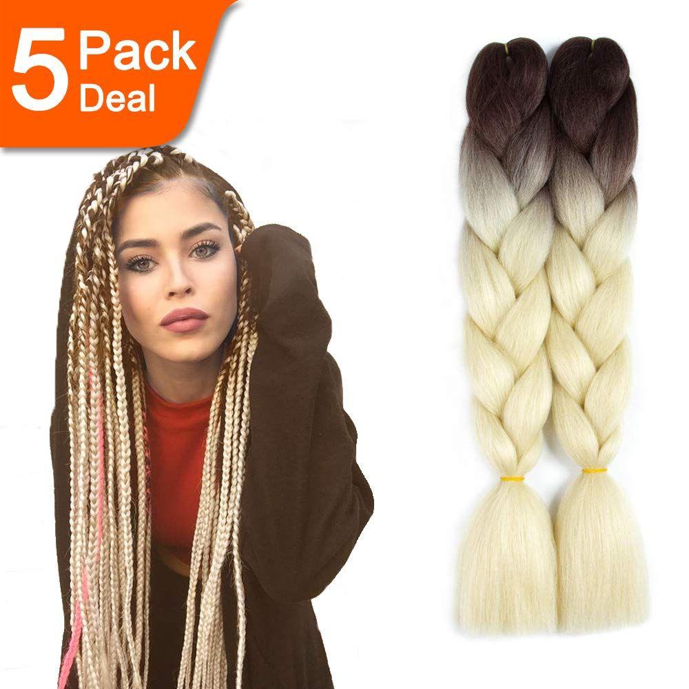 High Temperature Fiber Kanekalon Braiding Hair 5pcs 31 Braided Hairstyles Braid In Hair Extensions Coachella Hair