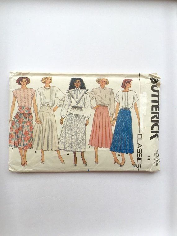 80s long skirt sewing pattern, 80s maxi skirt pattern, long skirt ...