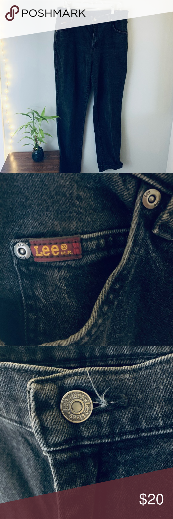 90s lee black  jeans  size 12