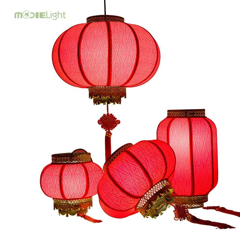 Mooielight Chinese New Year Lanterns Red Pendant Light Antique Led Lights Hotel Living Room Lights Restaurant Spring F Red Lamp Red Pendant Light Chinese Lamps