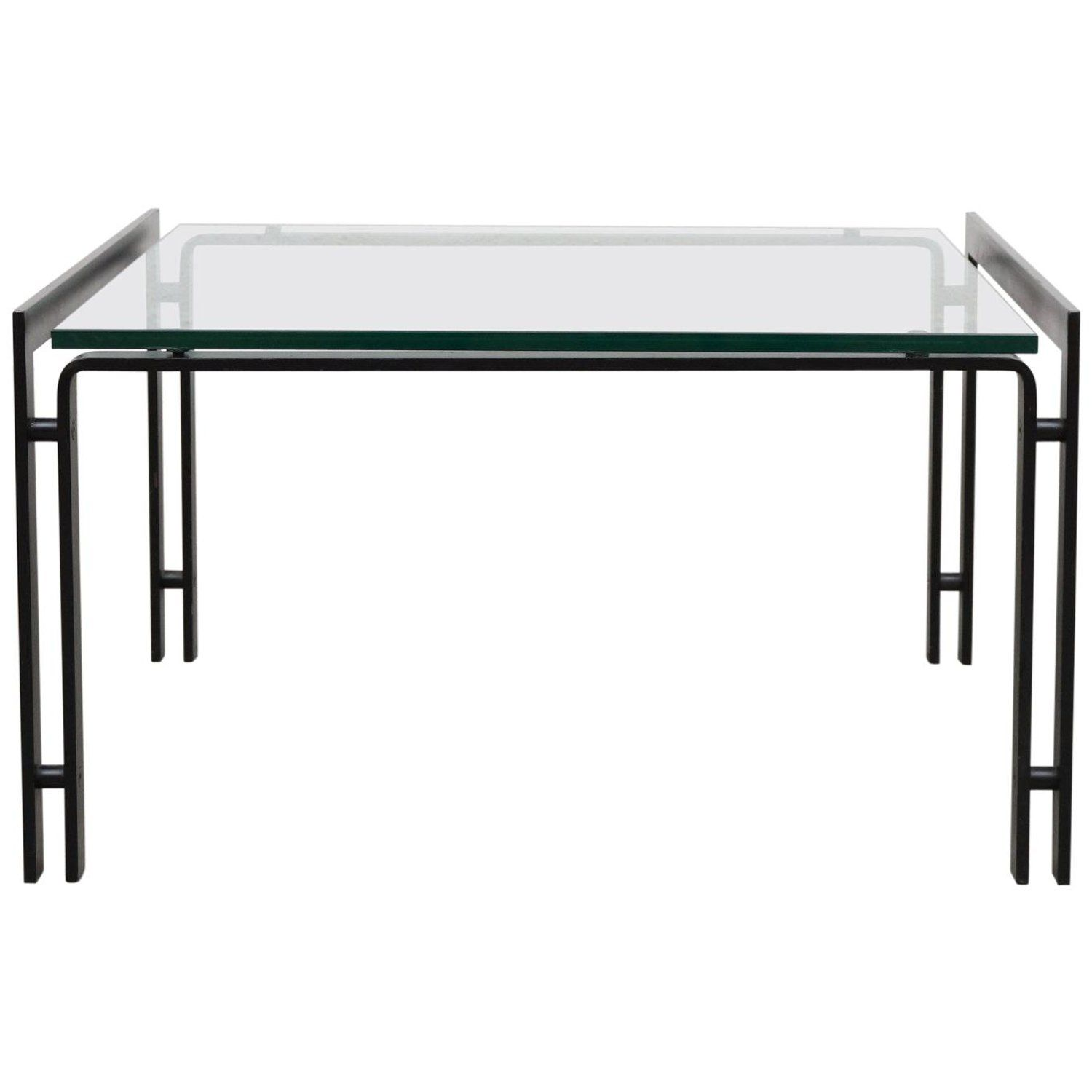 Metaform Glass Coffee Table With Black Enameled Metal Frame Glass Top Side Table Black Glass Coffee Table Aluminum Table [ 1500 x 1500 Pixel ]