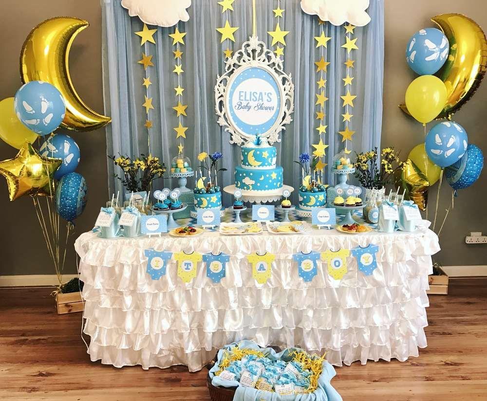 Twinkle Twinkle Little Star Baby Shower Party Ideas Dessert Table