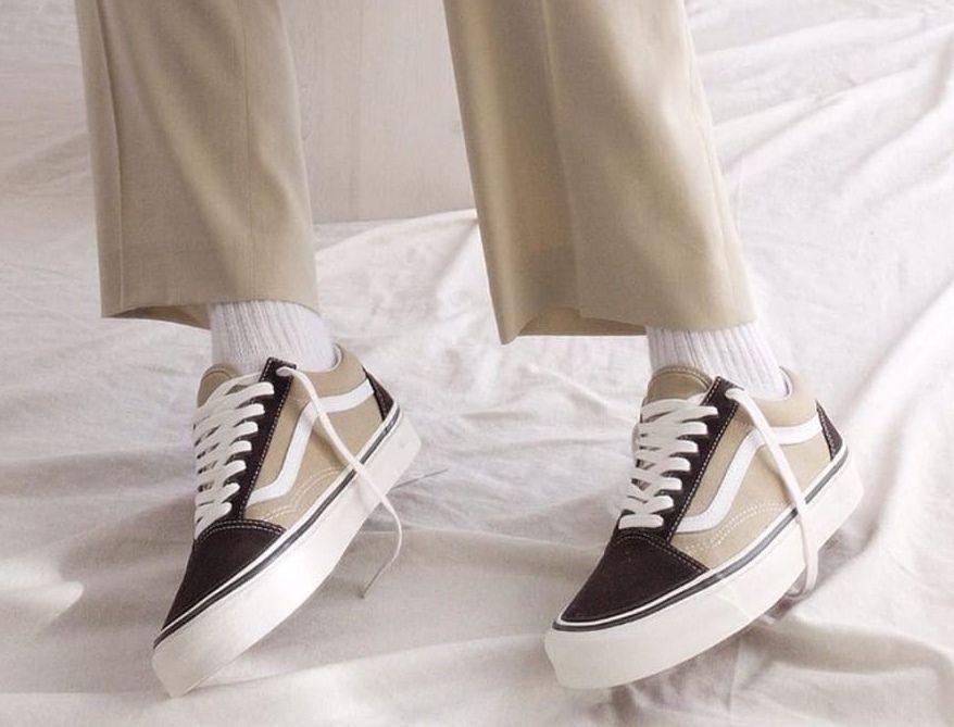 Vans Old Skool suede sneaker in beige | ASOS | Beige vans old ...