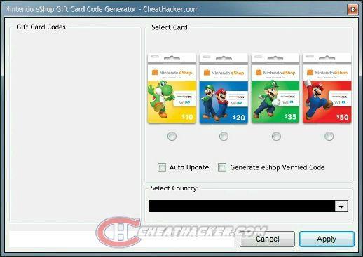 gift card generator no human verification