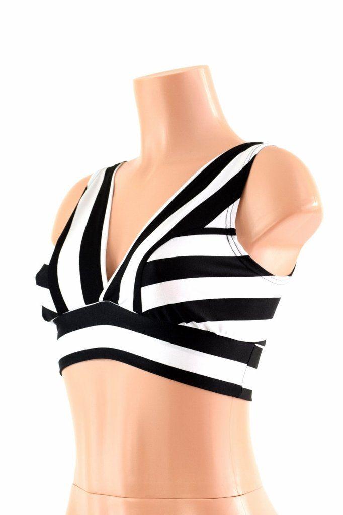 62cb341e962dc6 Starlette Bralette in Black   White Stripe – Coquetry Clothing