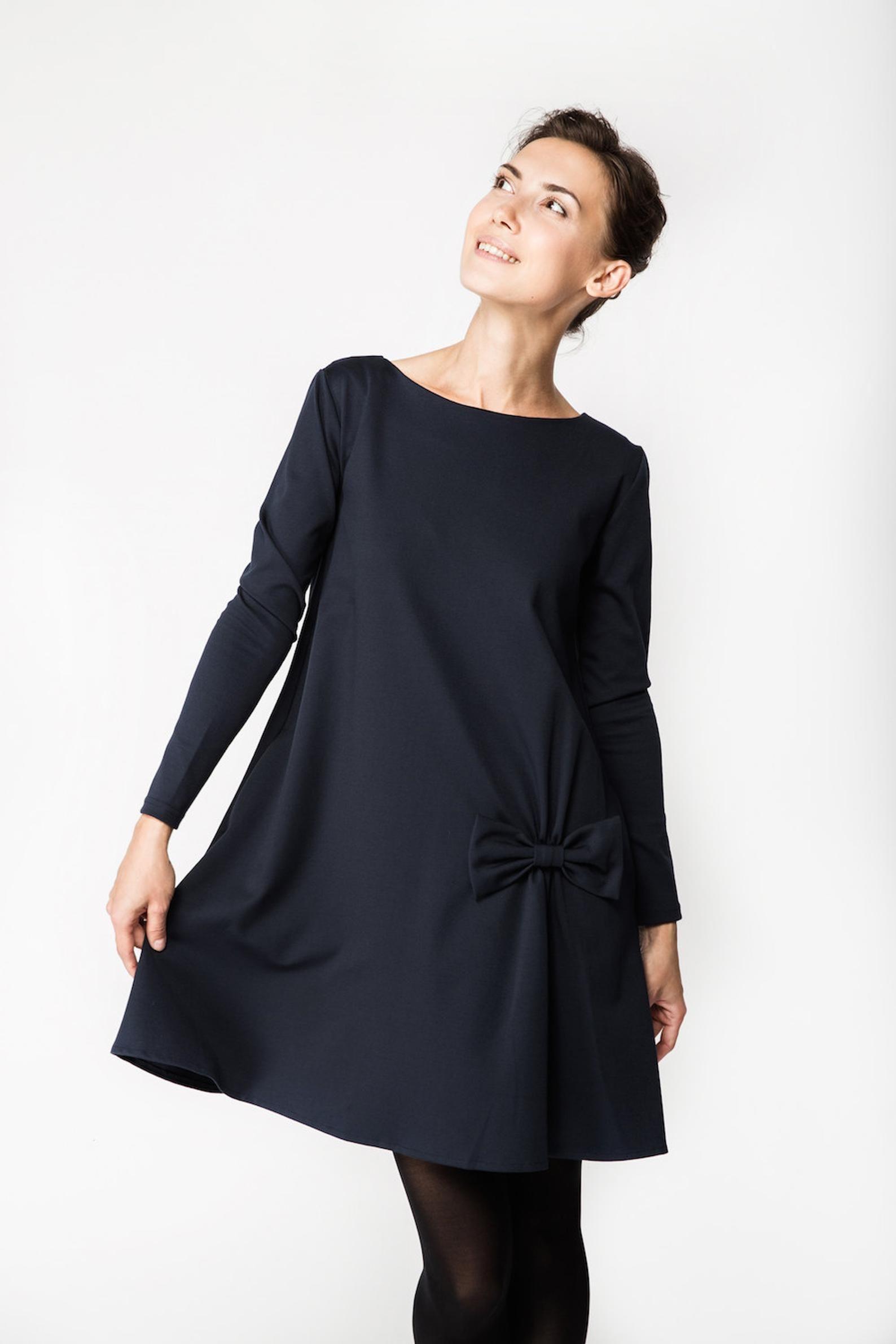 Women Dress, Blue Dress, Elegant Dress, Midi Dress ...