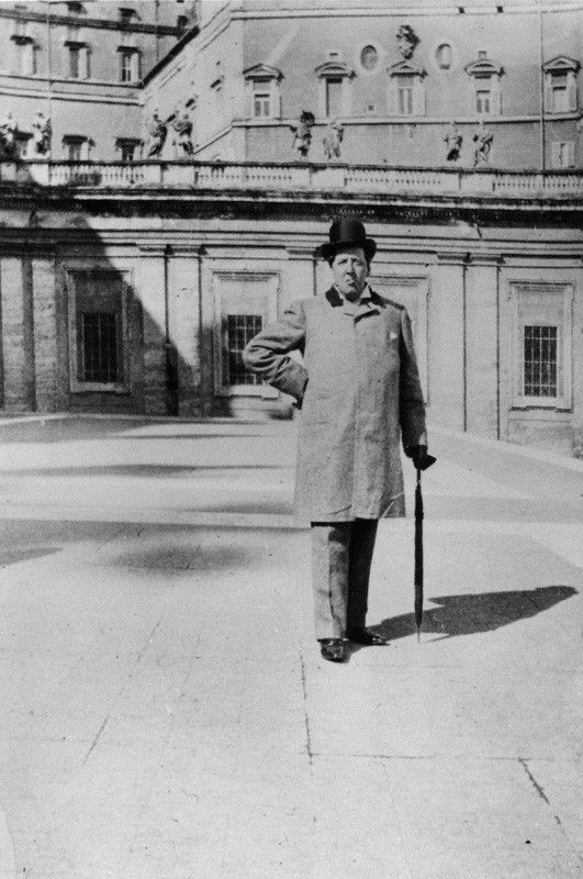 Oscar Wilde - Photograph by Lord Alfred Douglas, Steps Of St. Peter's Basilica, Vatican City (Spring, 1900)