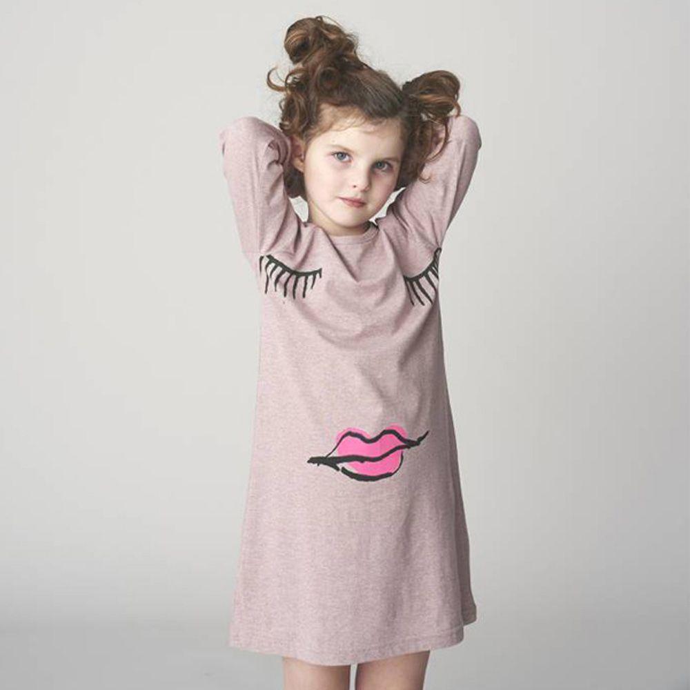 Toddler girl long sleeve dress bella forte glass studio long