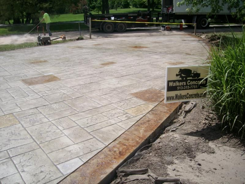 Stamped Concrete Driveway Ideas Patio Cincinnati Stamped