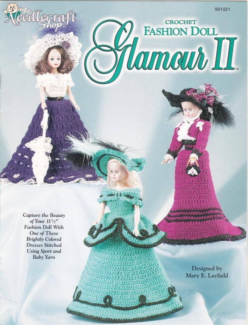 Crochet Fashion Doll Outfits Crochet Patterns - Glamour II - the ...
